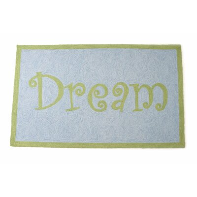 Dream Hand Hooked Wool Blue/Green Area Rug