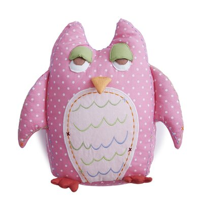 Baby Owls Linen Throw Pillow