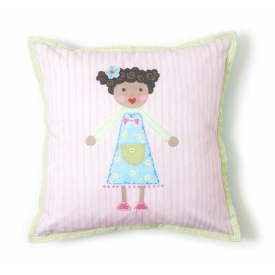 Girl Cotton Throw Pillow