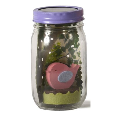 Bird Mason Jar Solar Night Light