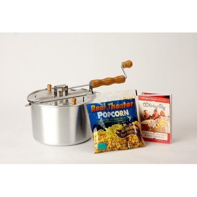 Wabash Valley Farms Whirley Pop Stovetop 6 Quart Popcorn Popper - Color: Silver at Sears.com