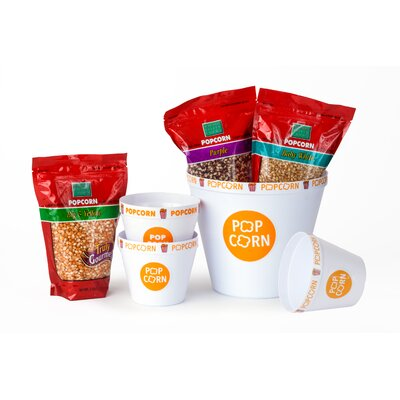 Popcorn Bucket Gourmet Kernels and Tub Gift Set 36002