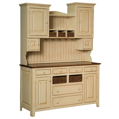 Amity 6 Drawer 6 Door Standard China Cabinet Color: White