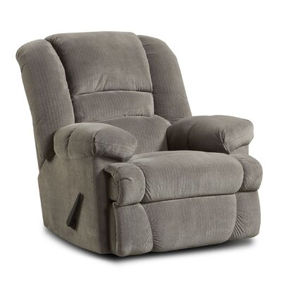 Orleans Recliner Upholstery: Gray/Dynasty Smoke