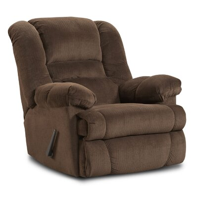 Orleans Manual Rocker Recliner Upholstery: Brown/Dynasty Chocolate