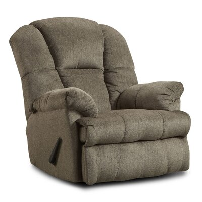 Orange Manual Recliner Upholstery: Beige/Hillel Pewter