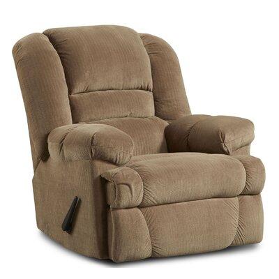 Orleans Manual Rocker Recliner Upholstery: Beige/Dynasty Camel