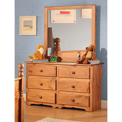 Charlton Cabin 6 Drawer Dresser with Mirror