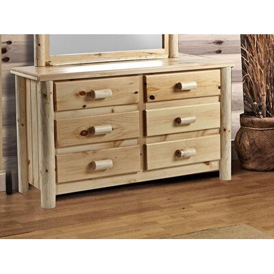 Chesterfield 6 Drawer Double Dresser