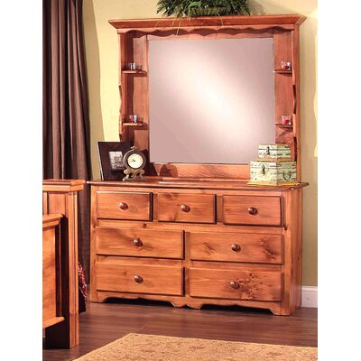 Clinton 7 Drawer Dresser with Mirror
