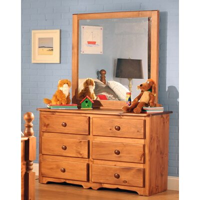 Conway 6 Drawer Double Dresser with Mirror
