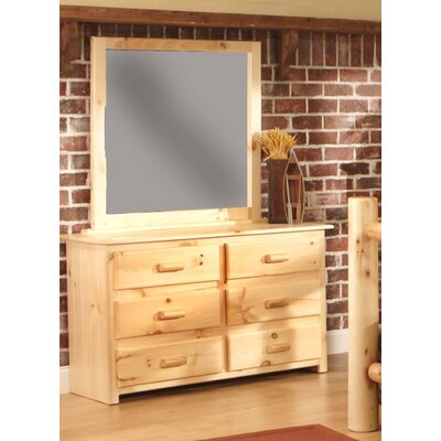 Chatham 6 Drawer Double Dresser with Mirror