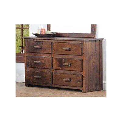 Clarksburg Cabin 6 Drawer Double Dresser