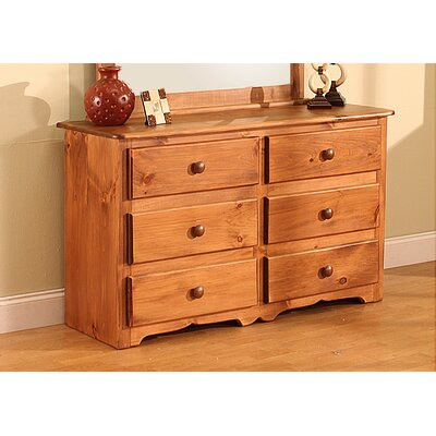 Cambridge 6 Drawer Double Dresser