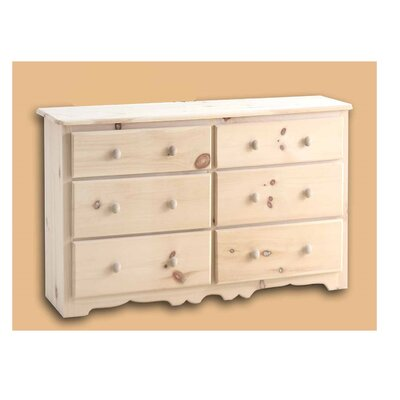 Lance 6 Drawer Double Dresser