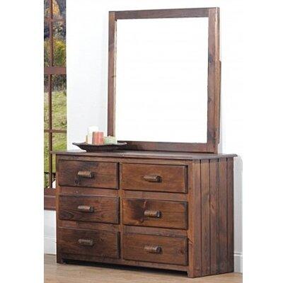 Clarksburg Cabin 6 Drawer Dresser with Mirror