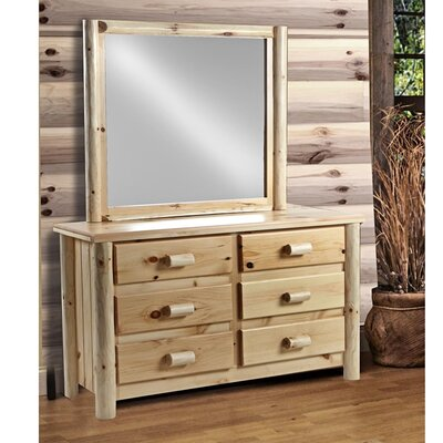 Chesterfield 6 Drawer Dresser with Mirror