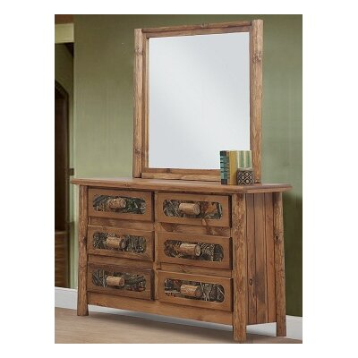 Chicopee 6 Drawer Dresser with Mirror