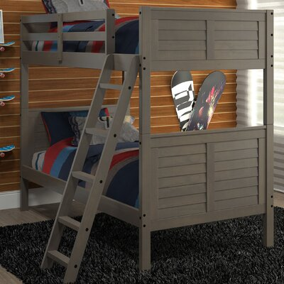 Twin Over Twin Bunk Bed Color: Gray