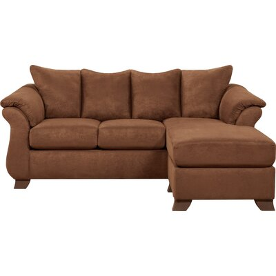 Payton Reversible Sectional Upholstery: Chocolate