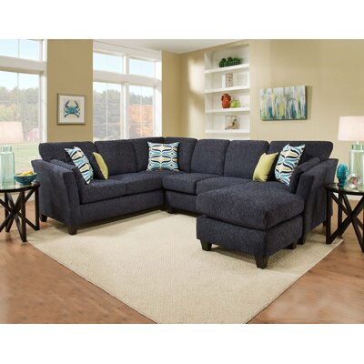 Tully Sectional Orientation: Right Hand Facing, Upholstery: Blue