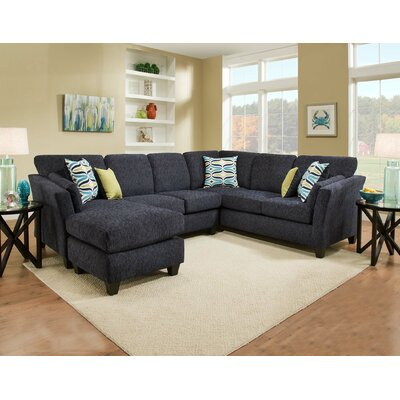 Tully Sectional Orientation: Left Hand Facing, Upholstery: Blue