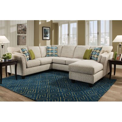 Tully Sectional Orientation: Right Hand Facing, Upholstery: Beige
