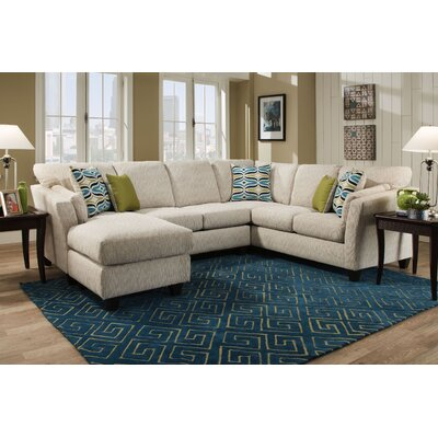 Tully Sectional Orientation: Left Hand Facing, Upholstery: Beige