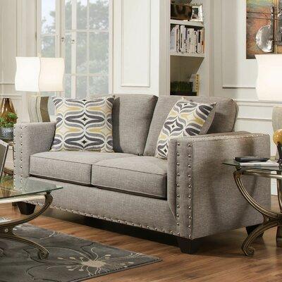 Oliver Loveseat Upholstery: Paradigm Quartz