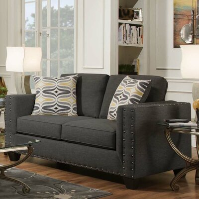 Oliver Loveseat Upholstery: Paradigm Smoke