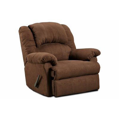 Kishmar Traditional Manual Rocker Recliner Upholstery: Aruba Chocolate