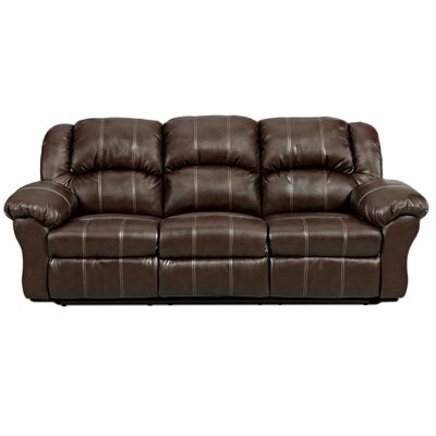 Kishmar Reclining Sofa Upholstery: Brendon Brown, Type: Manuel