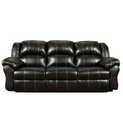 Kishmar Reclining Sofa Upholstery: Taos Black, Type: Power