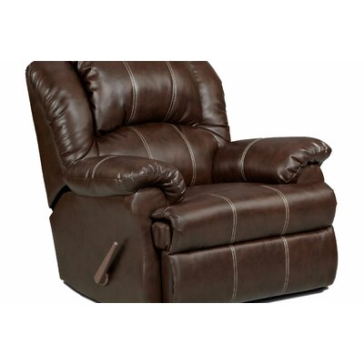 Kishmar Manual Rocker Recliner Upholstery: Brendon Brown