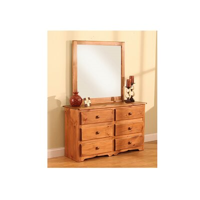 Cambridge 6 Drawer Dresser with Mirror