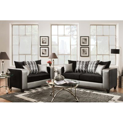 Rockleigh Shimmer Silver Living Room Collection