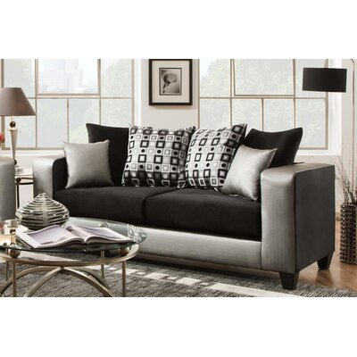 Rockleigh Shimmer Silver Sofa