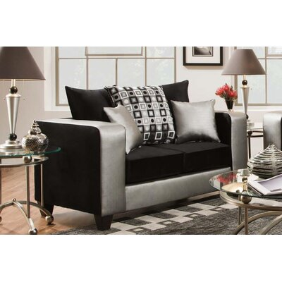 Rockleigh Shimmer Silver Loveseat