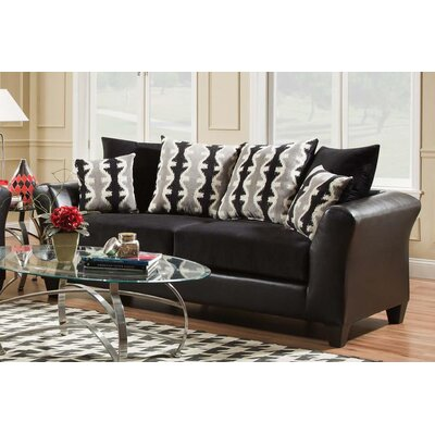 Wallie Dempsey Black Sofa