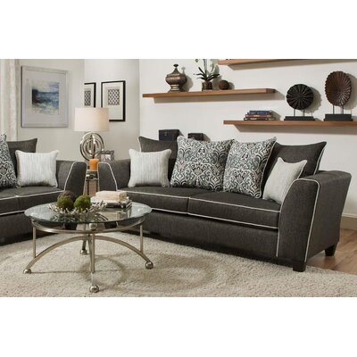 Teterboro Vivid Onyx Sofa