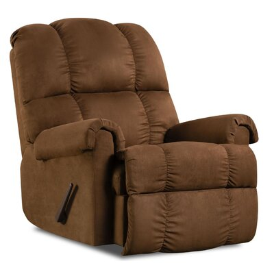Leadbetter Manual Recliner Upholstery: Chocolate