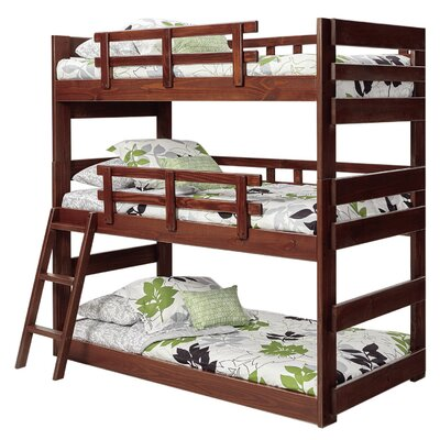 Dusty Twin Triple Bunk Bed Bed Frame Color: Chocolate