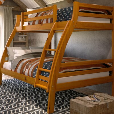 Durrell Twin Over Full Bunk Bed with Ladder Bed Frame Color: Honey