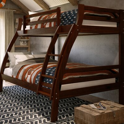 Durrell Twin Over Full Bunk Bed with Ladder Bed Frame Color: Chocolate