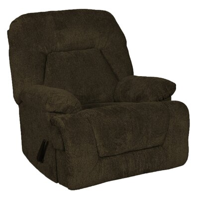 Rooney Oversized Rocker Swivel Recliner Upholstery: Cocoa