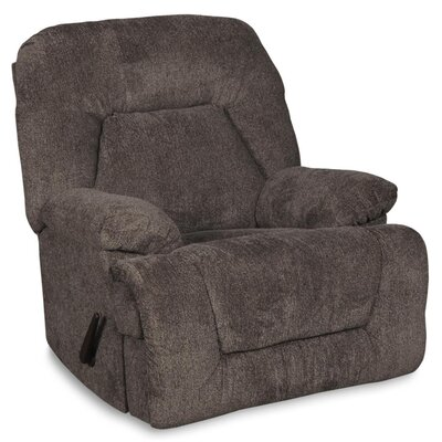 Hansel Glider Recliner Chocolate Upholstery: Pewter