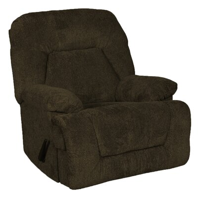 Valentine Manual Rocker Recliner Upholstery: Cocoa