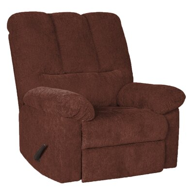 Storm Manual Swivel Recliner Upholstery: Wine