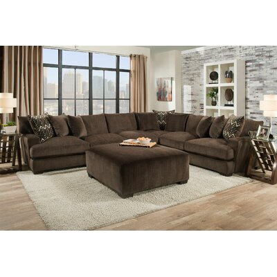 Stoddard Sectional Upholstery: Ultimate Chocolate