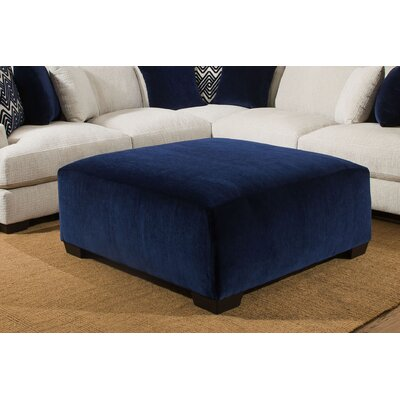 Stoddard Cocktail Ottoman Upholstery: Venice Sapphire